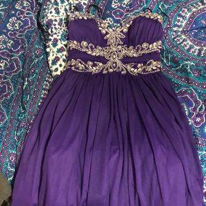 B. Darlin purple homecoming dress